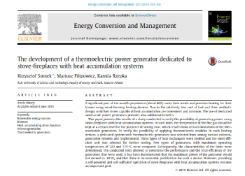 Publikacja w Energy Conversion and Management
