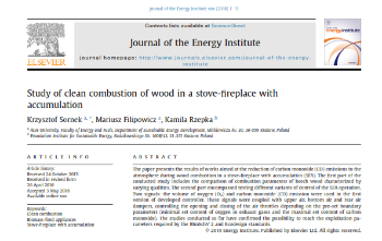 publikacja Journal of the Energy Institute