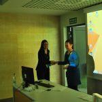 SEED16 - wręczenie nagrody za najlepszą prezentację ustną (Andrea Dernbecher, DBFZ w Lipsku)